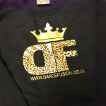 Dance School Logo in Leopard Print and Gold