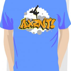 Axznt-Graffiti-Street-Dance-T-shirt-Blue