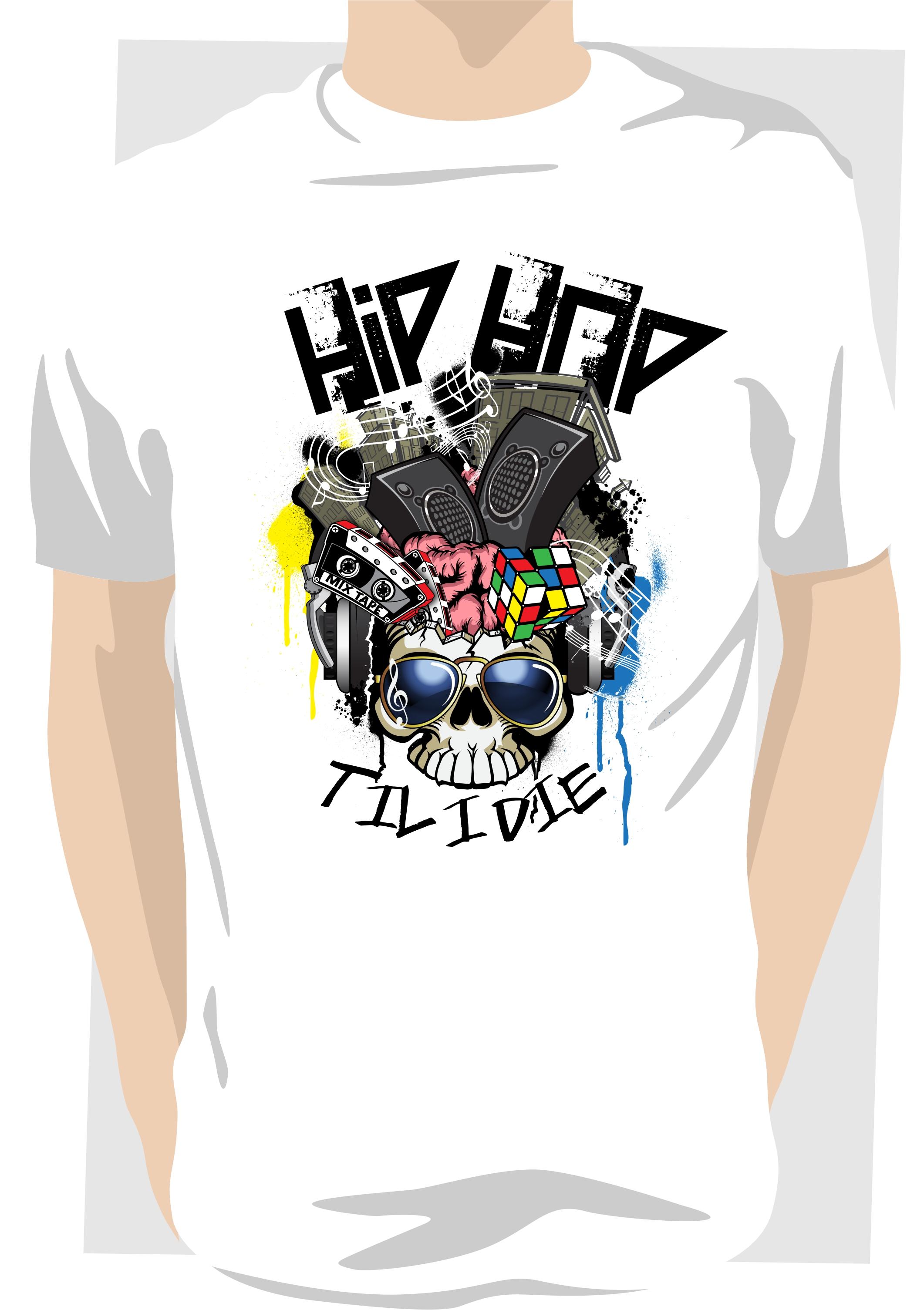 Hip Hop Skull T shirt - Axznt Clothing b96675fb80e9