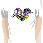 Love Street Dance Filled Heart White T shirt
