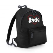 Black Backpack with name on - Jade