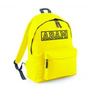Yellow Backpack with name on