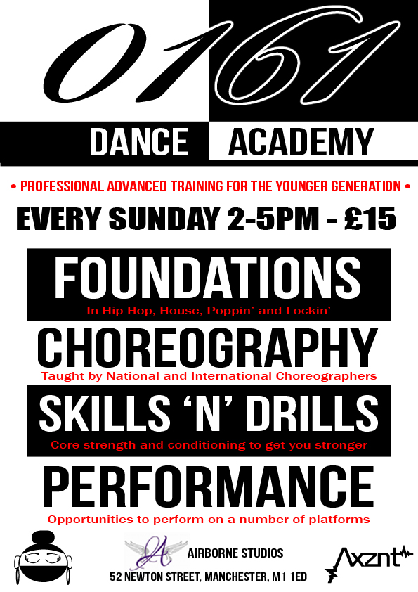 Poster for Dance training in Manchester