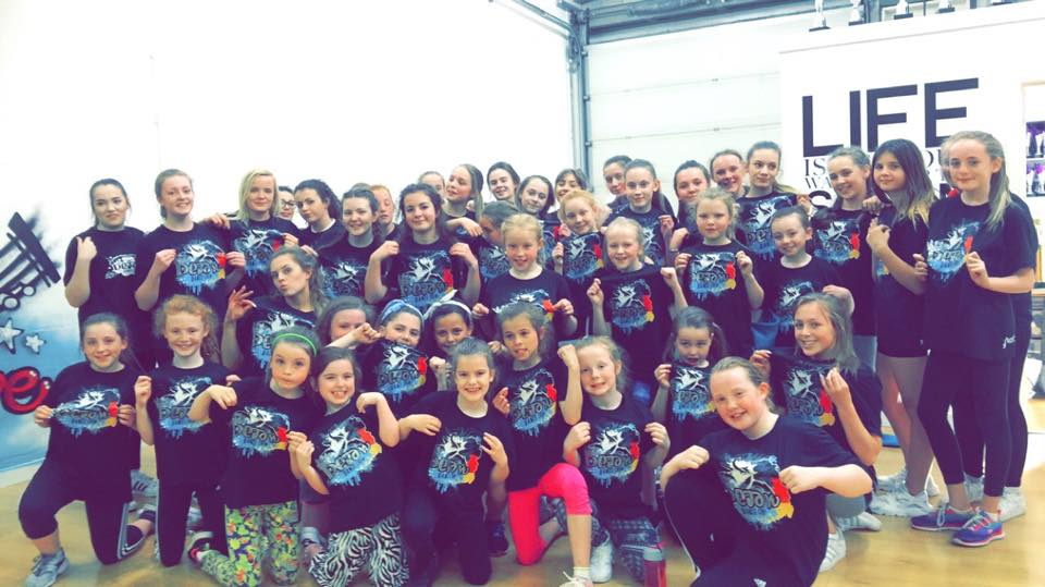 Deja Vu Dance Crew Posing in new Axznt Street Dance T-shirts