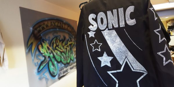 Custom Rhinestone Blazers for Dance Crew Sonic