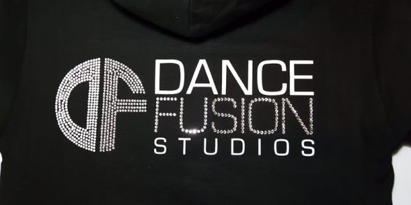 Crystal and Rhinestud Dance school hoodie