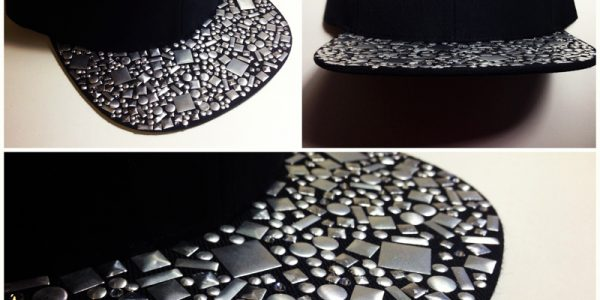 Custom Rhinestone Crystal Snapback done by Hand