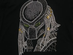 Predator T-shirt Done in rhinestuds and rhinestones