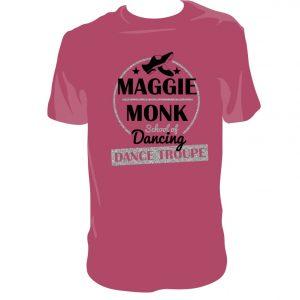 Maggie Monk Burgundy Dance Troupe T-Shirt