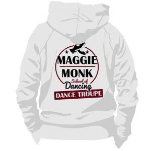 Maggie Monk Grey Zip Hoodie Back
